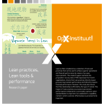 Research paper - Lean practices, Lean tools & performance